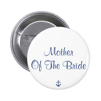 Knäppas nautiskt bröllop för budens mamma nål