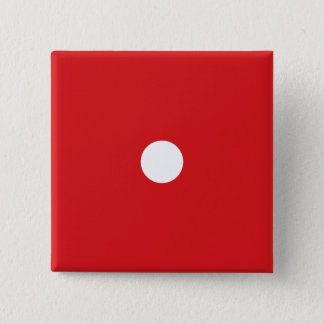 Knäppas röd tärning 1 standard kanpp fyrkantig 5.1 cm