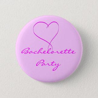 Knäppas rosa hjärta för det Bachelorette partyet Standard Knapp Rund 5.7 Cm