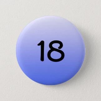 knäppas rundablått numrerar en arton standard knapp rund 5.7 cm