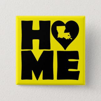 Knäppas statlig Louisiana hem- hjärta emblem Standard Kanpp Fyrkantig 5.1 Cm