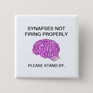 """""""Knäppas Synapses som inte riktigt avfyrar"""" Standard Kanpp Fyrkantig 5.1 Cm"""