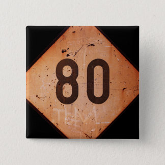 Knäppas: Vintagejärnväg 80 rusar tåg undertecknar Standard Kanpp Fyrkantig 5.1 Cm