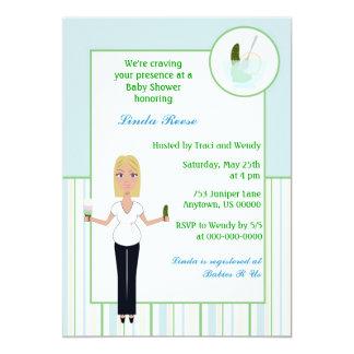 Knipor och inbjudan för glasspojkebaby shower
