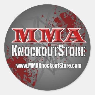 Knockout- lagerklistermärke för Muttahida Runt Klistermärke