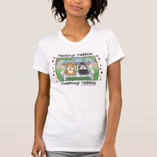 Knopp för Texting Tabbieskatter & Tony T-tröja