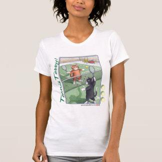 Knopp & Tony för tennistabby kattT-tröja T Shirt