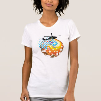 Knoppar inte bombarderar t-shirts