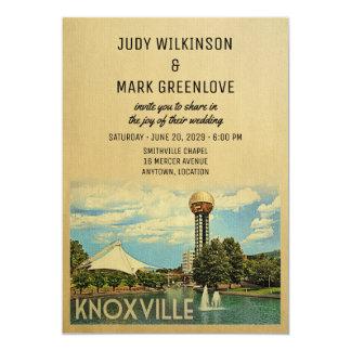 Knoxville bröllopinbjudan Tennessee 12,7 X 17,8 Cm Inbjudningskort