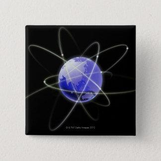 Knyta kontakt avbildar 2 standard kanpp fyrkantig 5.1 cm
