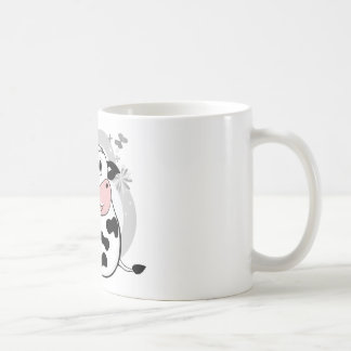 Ko som dricker mjölk kaffemugg