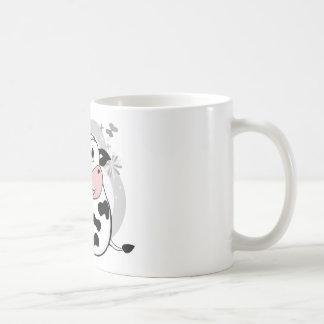 Ko som dricker mjölk kaffe koppar