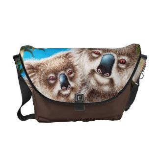 Koala- och babyRickshawmessenger bag Kurir Väska