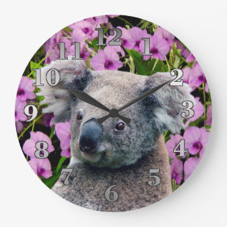 Koala och Orchids Stor Klocka
