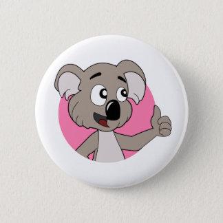 Koalabjörntecknaden knäppas standard knapp rund 5.7 cm