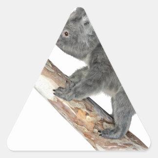 Koalaen profilerar in klättring triangelformat klistermärke