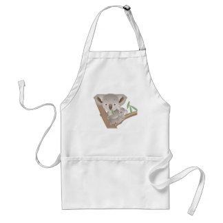 Koalafamilj Förkläde