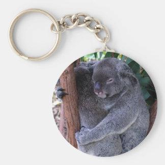 Koalafamilj Keychain Rund Nyckelring