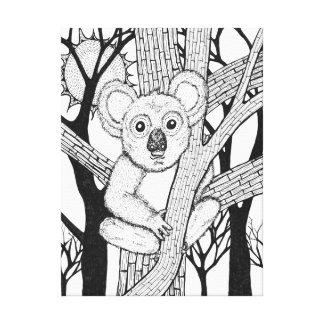 Koalakonst Canvastryck