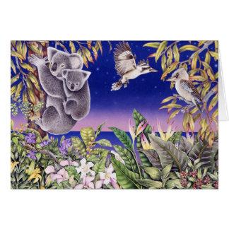 koalas och kookaburras hälsningskort