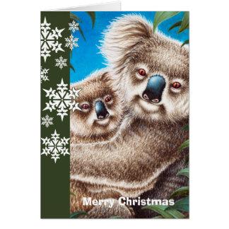 Koalasjulkort Hälsningskort