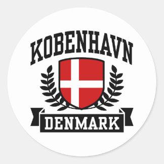 Kobenhavn Runda Klistermärken
