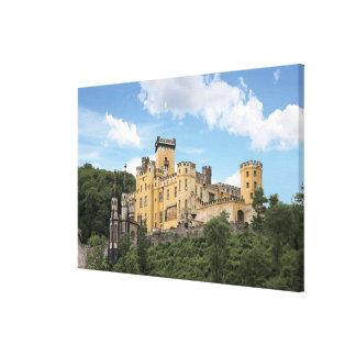 Koblenz Tyskland, Stolzenfels slott, Schloss Canvastryck