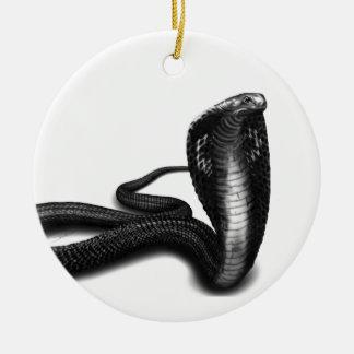 Kobra Julgransprydnad Keramik