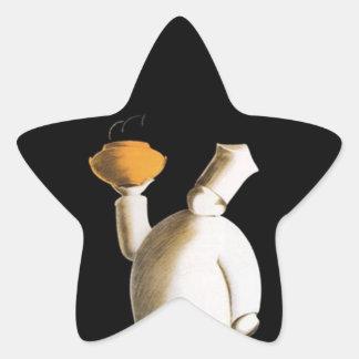Kock-av för skapelse för kockar för kock för stjärnformat klistermärke