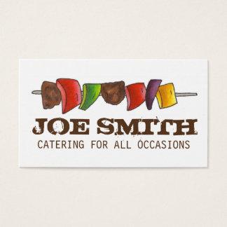 Kock för catering för picknick för Shish Kebab Visitkort