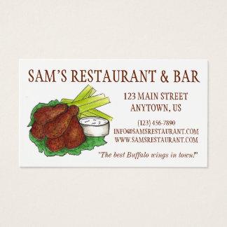 Kock för mat för pub för restaurang för vingar för visitkort