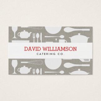 Kock för Taupe/för vit för vintagekökCollage som Visitkort