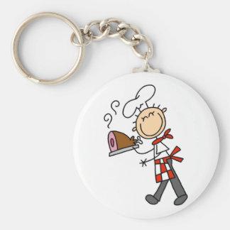 Kock med bakade skinkaTshirts och gåvor Rund Nyckelring