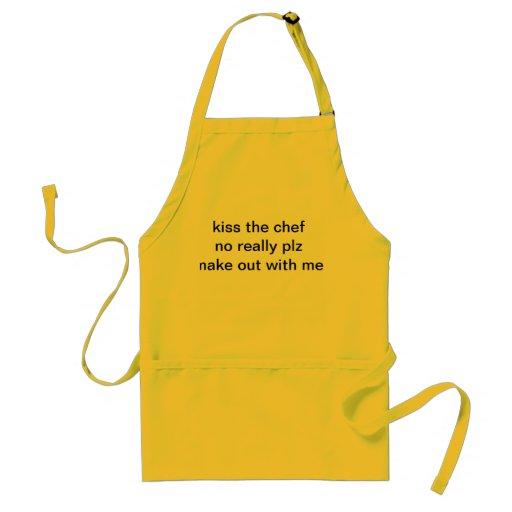 kocken är det ensamma förklädet förkläde