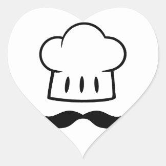 Kockgåvamustasch för Moustache för roligt för Hjärtformat Klistermärke