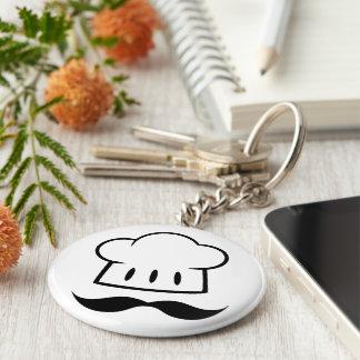 Kockgåvamustasch för Moustache för roligt för Rund Nyckelring
