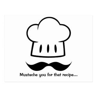 Kockgåvamustasch för Moustache för roligt för Vykort