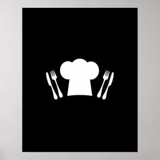 Kockhattknivar och dela sig kök eller restaurangen poster
