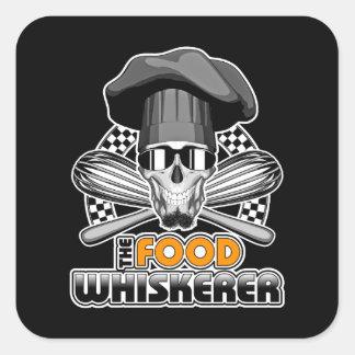 Kockhumor: Mat Whiskerer v3 Fyrkantigt Klistermärke