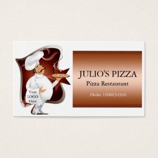 Kocklogotyp för Pizzarestauranger Visitkort