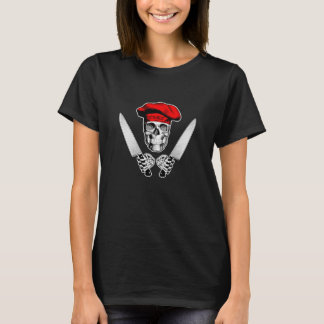 Kockskalle med kockknivar t-shirt