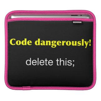Kodifiera farligt sleeve för iPads