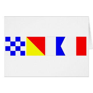 Kodifiera flagga Noah Hälsningskort