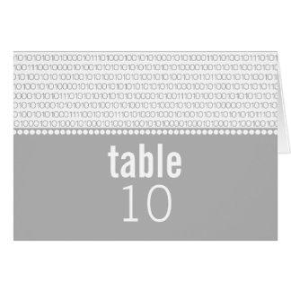 Kodifierar chic binärt för Geek bröllopbordkortet, Hälsningskort