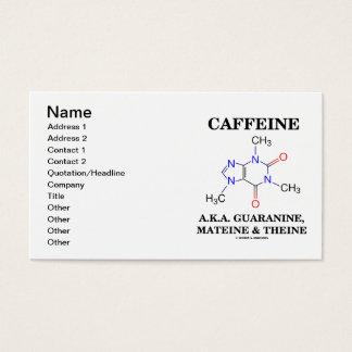 Koffein A.K.A Guaranine Mateine & Theine Visitkort