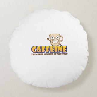 Koffein den annan medlemmen av bemanna rund kudde