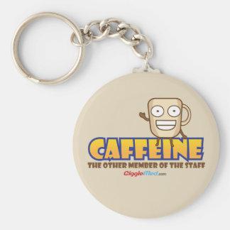 Koffein den annan medlemmen av bemanna rund nyckelring