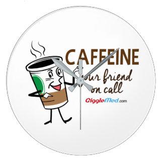 Koffein din vän på appell stor klocka