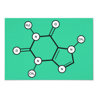koffeinmolekyl 8,9 x 12,7 cm inbjudningskort