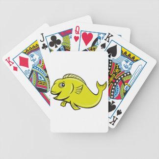 Koi fisk som leker kort spelkort